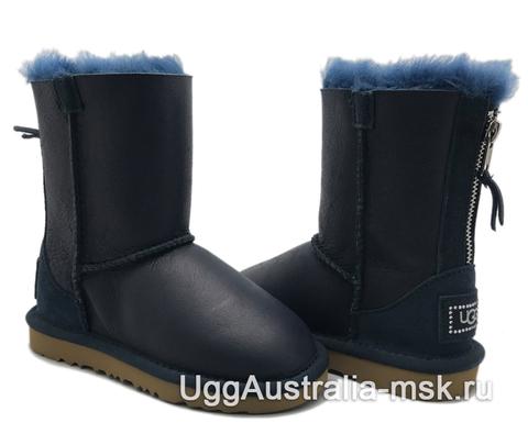 UGG Kids Zip Metallic Navy