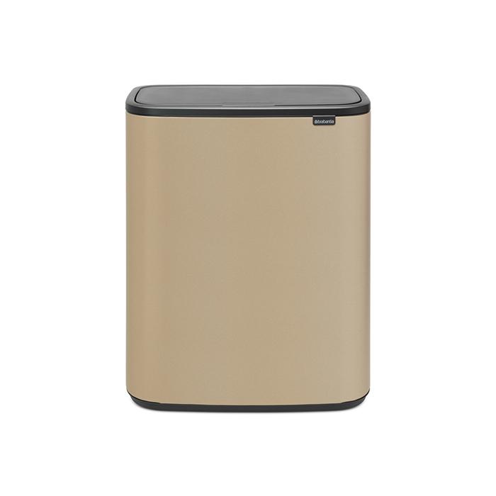 Мусорный бак Touch Bin Bo (2 х 30 л), Минерально-золотой, арт. 221545 - фото 1