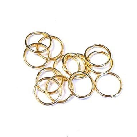 Кольцо одинарное 8.0 мм золото цена за 10 шт