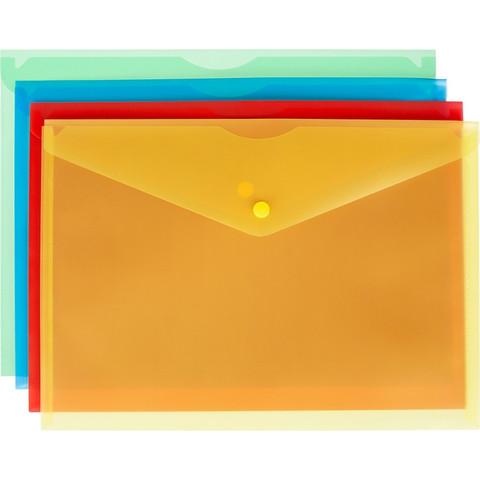 Папка-конверт Attache Fantasy А4 180 мкм (в упаковке 8 папок одного цвета)