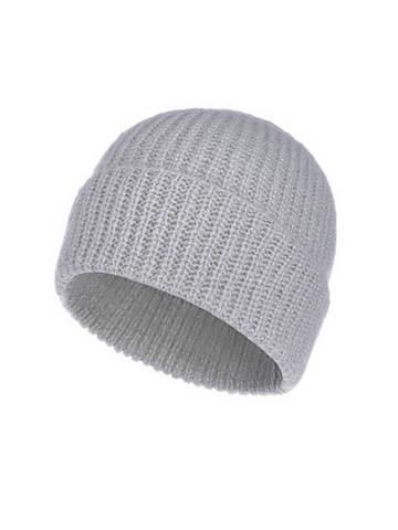 Женская шапка молочного цвета из мохера - фото 1