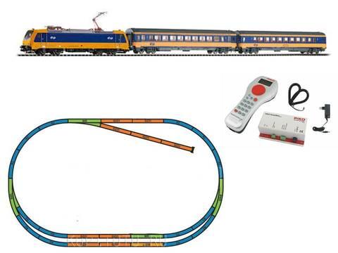 %Цифровой НАБОР% Пассажирский поезд BR 185 VI NS Intercity + 2 вагона + путь ABE