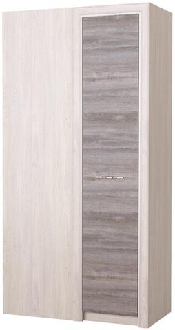 Шкаф Октава угловой бельявой серый