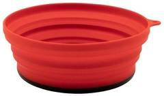 Тарелка Tramp силиконовая с пласт. дном 15*15*8,5, терракотовый
