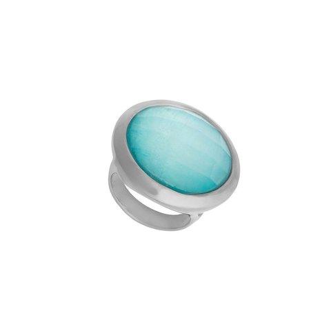Кольцо Pearl Blue Sky Agate 17.2 мм K9853.21/17.2 B/S