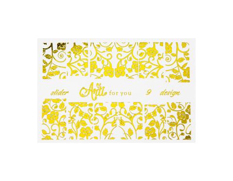 Фольга для дизайна ногтей цвет золото 9 купить за 120руб