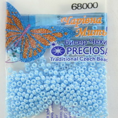 68000 Бисер 10/0 Preciosa Керамика блестящий бледно-голубой