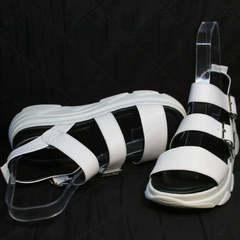 Белые босоножки спортивные женские Evromoda 3078-107 Sport White