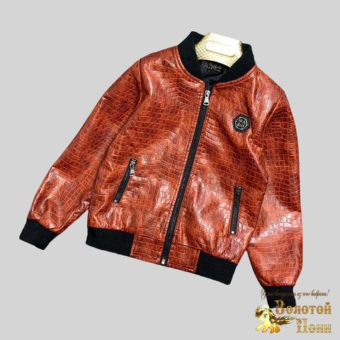 Куртка экокожа мальчику (4-12) 210328-К-74023