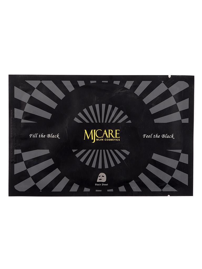 Тканевые Маска тканевая для лица с древесным углем MJ Premium Charcoal black mask МЖ77.jpg