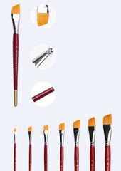 Кисть синтетика скошенная Transon, короткая ручка