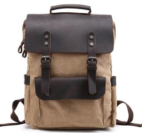 Рюкзак из ткани и кожи BUG 067 Khaki