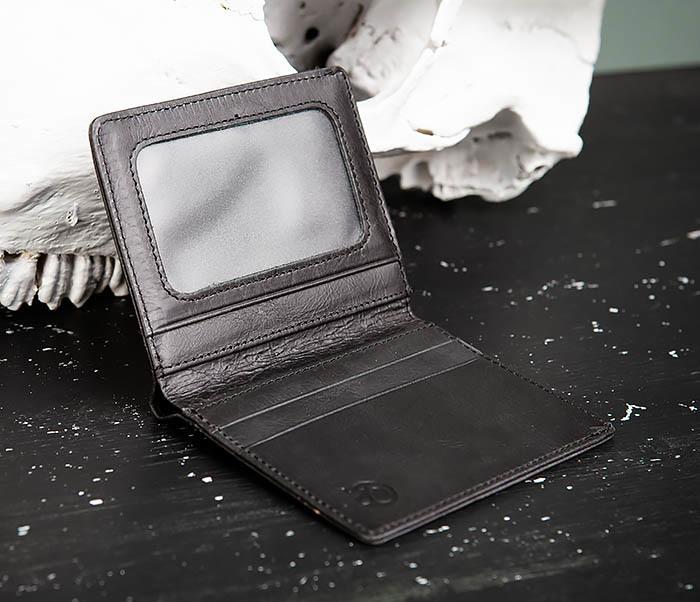 WL292-1 Небольшое мужское портмоне из натуральной кожи фото 04