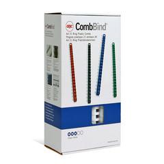 Пружины для переплета пластиковые GBC 16 мм белые (100 штук в упаковке)