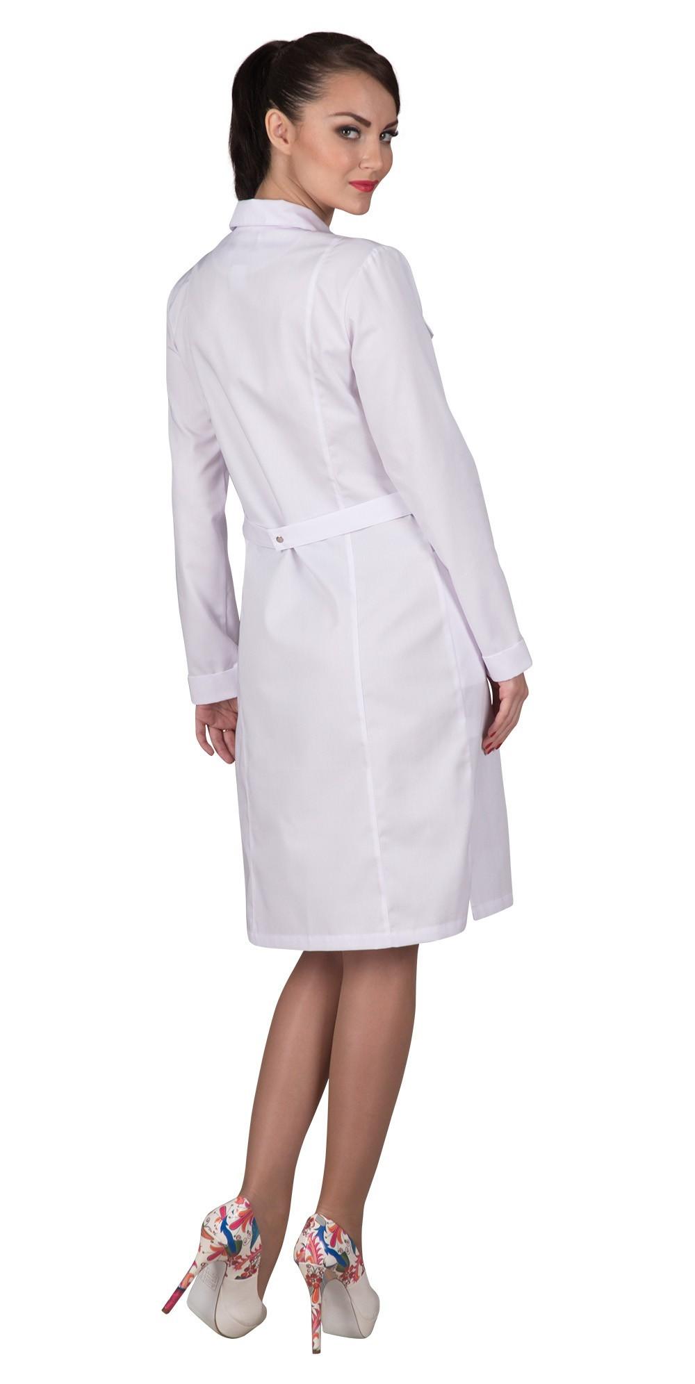 Белый медицинский халат для студентов