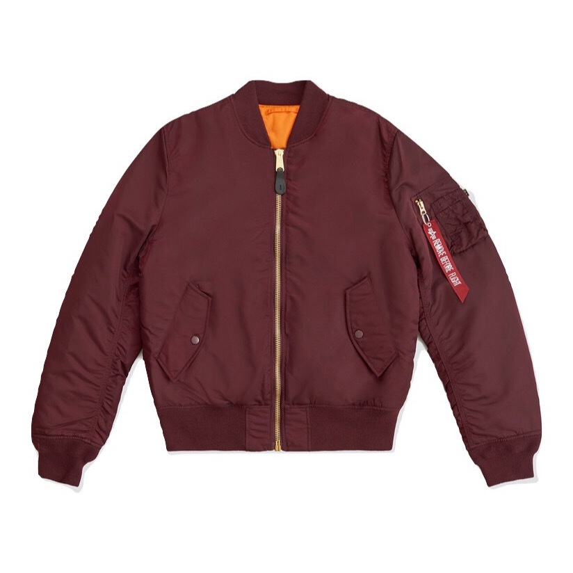 Куртка Alpha Industries MA-1 W Maroon/Orange