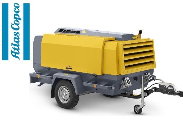 Компрессор дизельный Atlas Copco XAS 186 на шасси с нерегулируемым дышлом