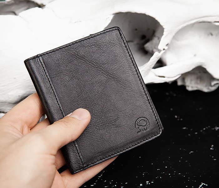 WL292-1 Небольшое мужское портмоне из натуральной кожи фото 08