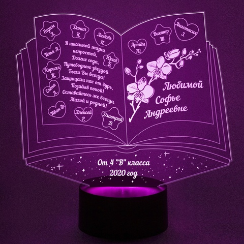 Книга с именами детей и поздравлением (Подарок воспитателю)