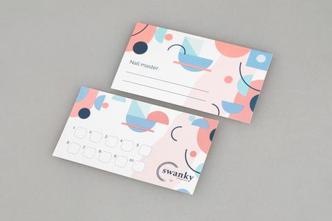 Набор визиток Swanky Stamping геометрия
