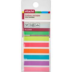 Клейкие закладки Attache пластиковые 8х45 мм 8 цветов по 20 листов