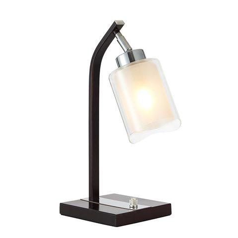 Лампа настольная Ситилюкс CL156812 Фортуна Хром/Венге
