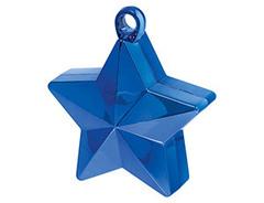 Грузик для шара Звезда, Синий, 170гр, 1 шт.