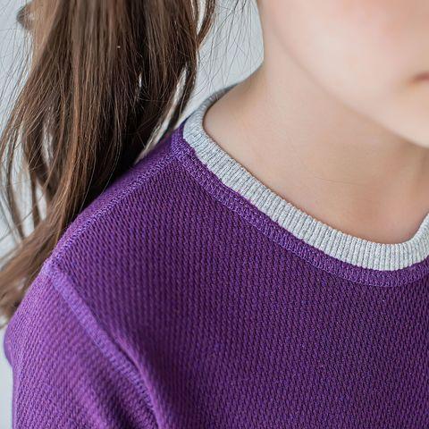 Thermal underwear set for teens - Plum