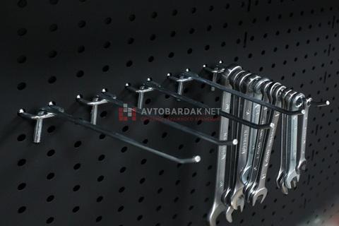 Одинарные крючки  для инструментов (5 шт.) на металлическую перфопанель