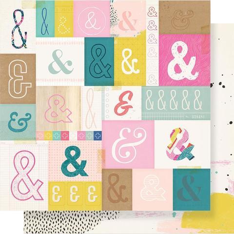 Лист двусторонней бумаги 30х30см - Good Vibes от Crate Paper
