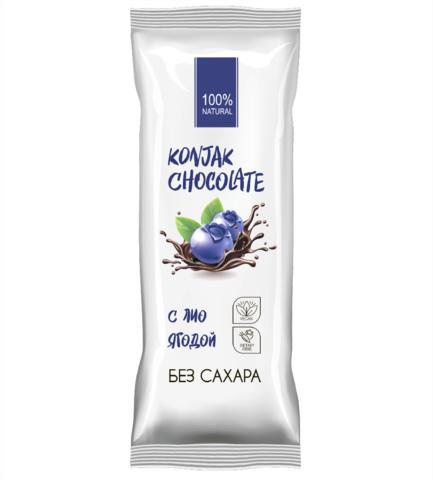 Konjak Chocolate Шоколад без сахара Черничный