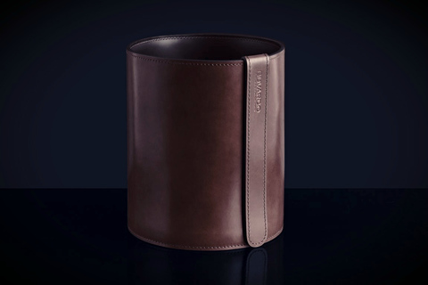 Корзина D30 LUXE из кожи Full Grain Bologna Brown