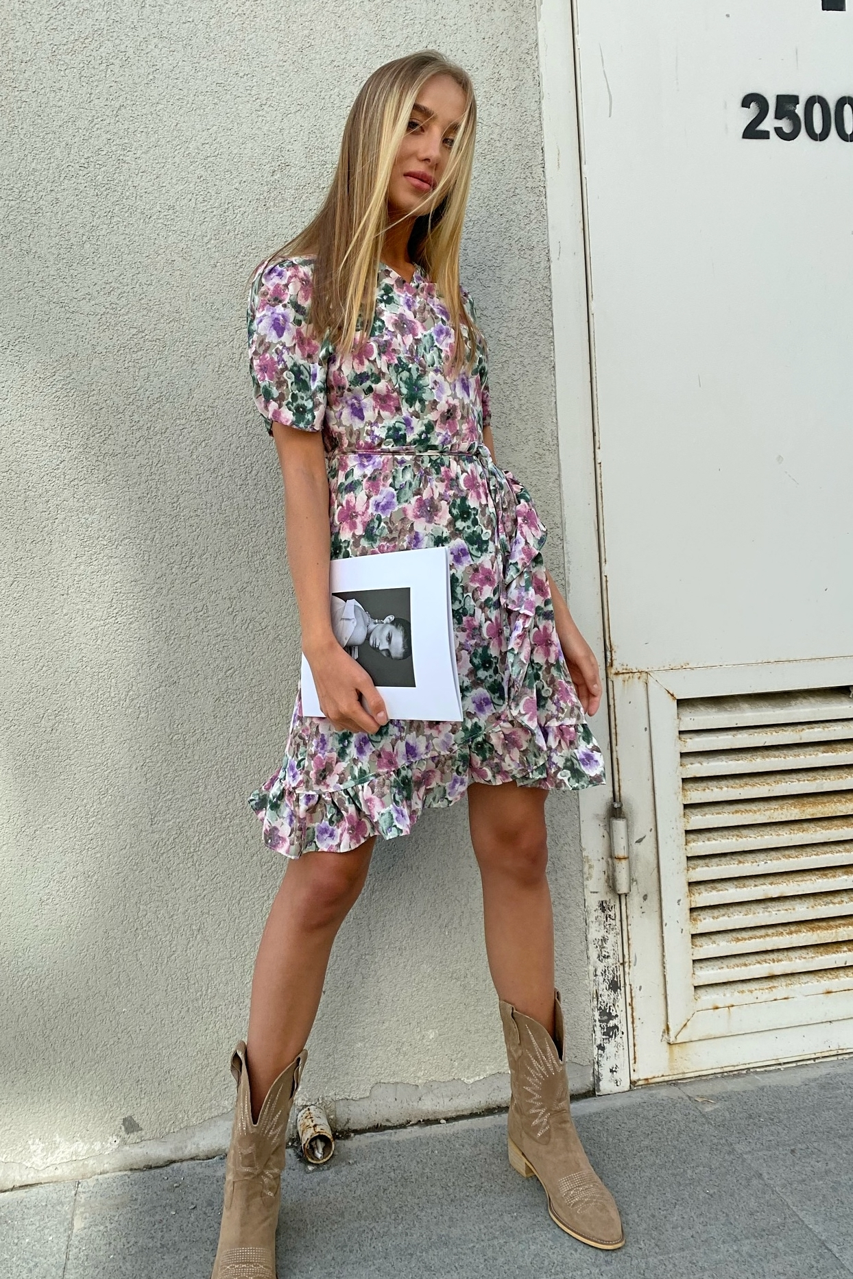 Платье шифоновое на запах