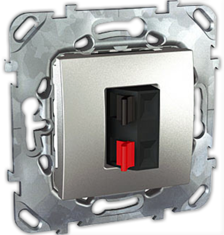 Аудиорозетка. Цвет Алюминий. Schneider electric Unica Top. MGU5.486.30ZD