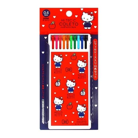 Бокс с 10 стержнями Sanrio Hi-Tec-C Coleto - Hello Kitty Edition (0,4 мм)