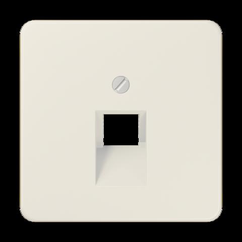 Накладка одинарной наклонной tel/comp розетки. Цвет Слоновая кость. JUNG CD. 569-1UA