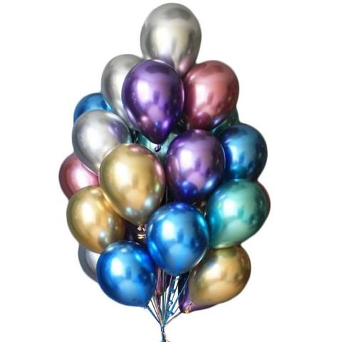 Воздушные шары хром разноцветные