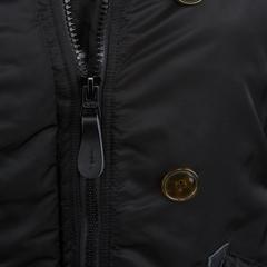 Парка Alpha Industries Elyse Black с натуральным мехом (черная)