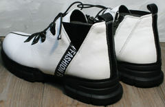 Женские ботинки натуральная кожа Ripka 146White