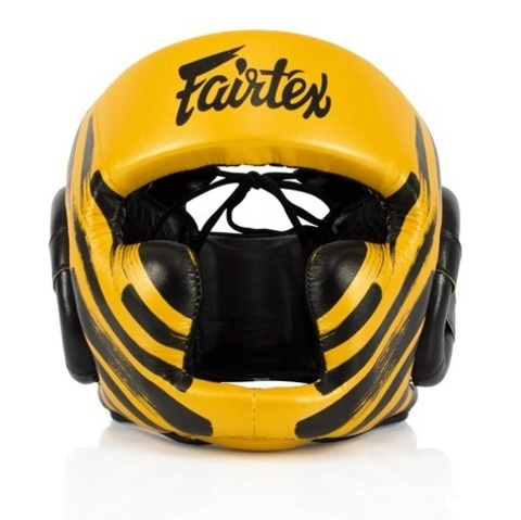 Шлем Fairtex Headguard HG16M2 Yellow/Black