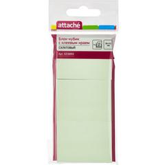 Стикеры Attache 38х51 мм пастельные салатовые (3 блока по 100 листов)