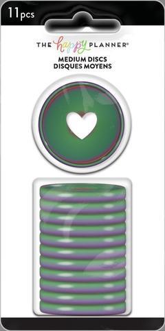 Диски- крепежный механизм для ежедневника Medium Plastic Discs - Iridescent- 3.3 см