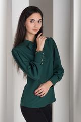 Маркіза. Красива блуза з бантом. Смарагд