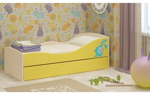Детская двухъярусная кровать Юниор-10 МДФ, 80х160