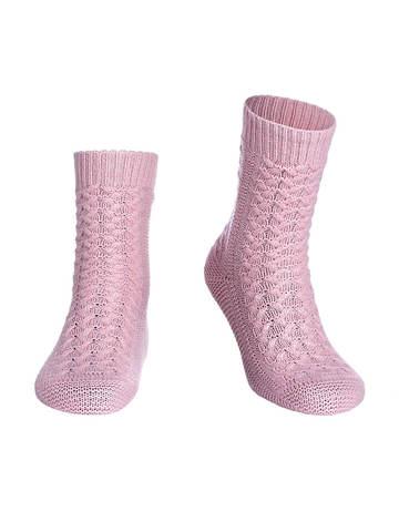 Женские носки светло-розового цвета из 100% кашемира - фото 1