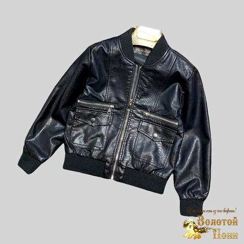 Куртка экокожа мальчику (4-12) 210328-К-74024