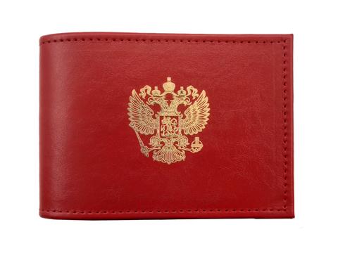 Обложка для удостоверения    Золотая пластинка   Красный