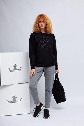Margittes Худи с лого в тон и карманом-кенгуру