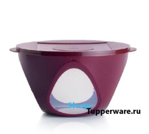 Чаша Аркадия 4,3 л. цвет бордо с блёстками