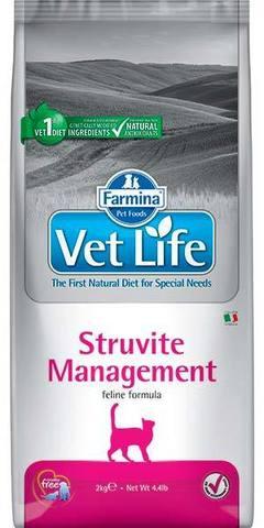 5 кг. FARMINA Vet Life Сухой корм для кошек при струвитном уролитиазе и идиопатическом цистите Struvite Management